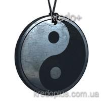 Кулон из шунгита Инь-Ян