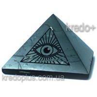 Пирамида из шунгита Всевидящее Око, полированная